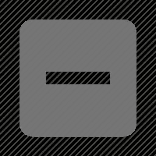 minimize, minus, remove icon