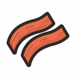 bacon, cooking, frying, kitchen icon