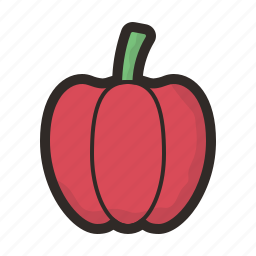 capsicum, food, nature, plant, vegetable, vegetables icon