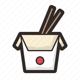china, chinese, chopsticks, meal, restaurant, takeaway icon