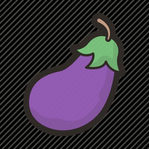 eggplant, healthy, organic, vegetables, vegetarian icon