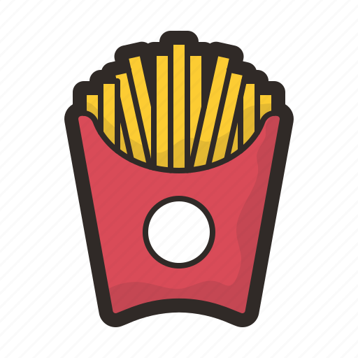 food, fries, hot, junk, mcdonalds, meal icon
