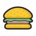 cheeseburger, food, hamburger, junk, sandwich icon