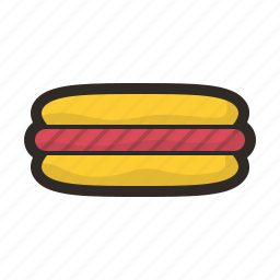 fastfood, food, hotdog, junk, meal icon