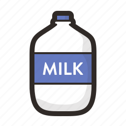 beverage, dairy, drink, food, gastronomy, glass, milk icon