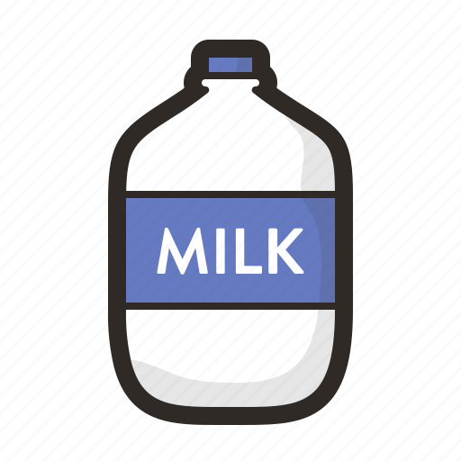 beverage, dairy, drink, food, gastronomy, glass, milk icon