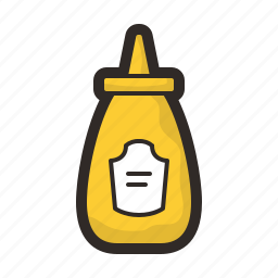 food, gastronomy, hotdog, mustard icon