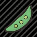 bean, green, legume, pea, pod, vegetable icon