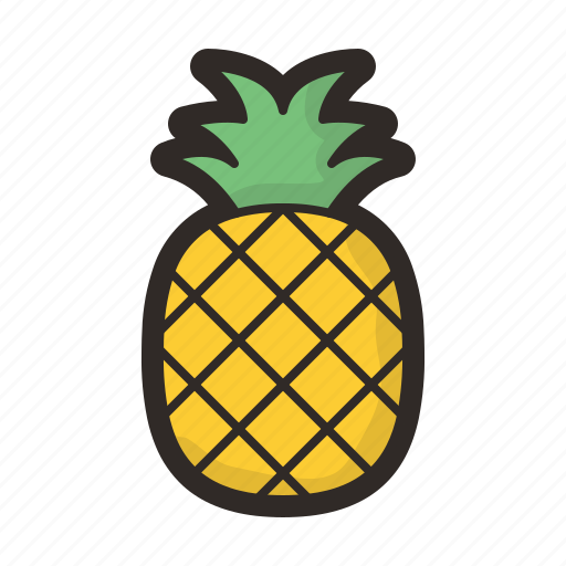 diet, fruits, healthy, organic, pineapple icon