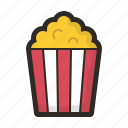 food, gastronomy, popcorn, snack icon