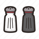 and, pepper, salt, seasoning, spice icon