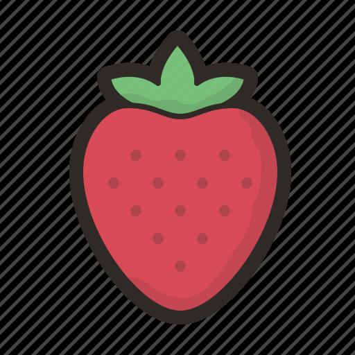 cake, fruit, strawberries, strawberry, sweet icon