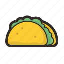 cooking, kitchen, taco, tacos icon