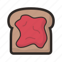 toast, bread, jam, kitchen, toaster