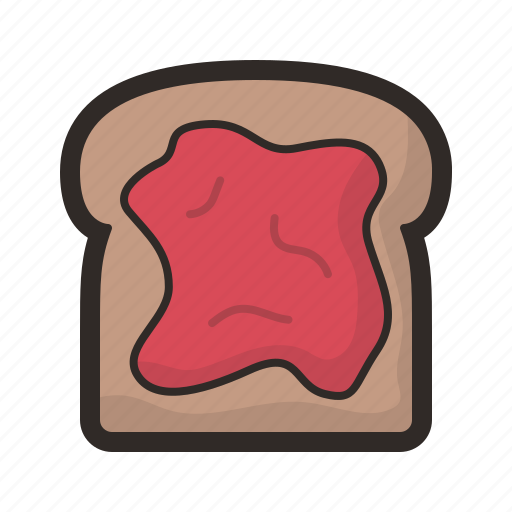 Toast, bread, jam, kitchen, toaster icon - Download on Iconfinder