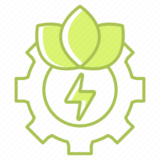 cog, energy, gear, go green, green, nature, technology icon