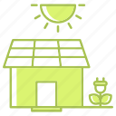 energy, estate, go green, green technology, house, power, renewable energy icon