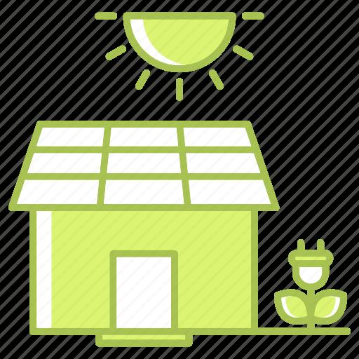 energy, estate, go green, green technology, house, power, renewable energy icon