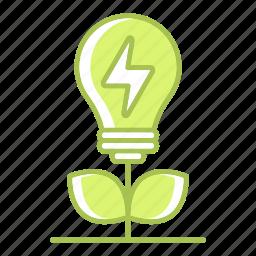 energy, go green, green technology, plant, power, renewable energy, saving icon