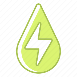 drop, green technology, hydropower, power, renewable energy, water icon