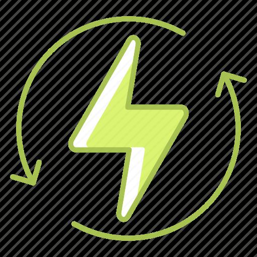 energy, green technology, power, renew, renewable, renewable energy icon