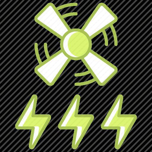 enegry, energy, green technology, power, renewable energy, wind icon