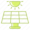 energy, green technology, power, renewable energy, solar, sun icon