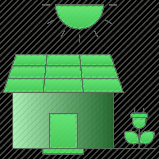 energy, estate, green technology, house, power icon