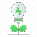 energy, green technology, idea, plant, power, renewable icon