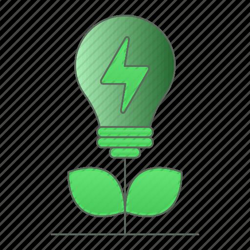 energy, green technology, idea, plant, power, renewable icon