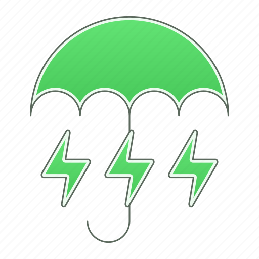 energy, green technology, power, renewable energy, saving, umbrella icon