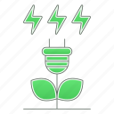 go, green, green technology, plant, power, renewable icon