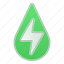 drop, energy, green technology, hydropower, power, water icon