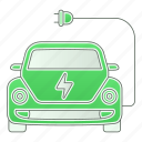 car, emission, green technology, power, renewable energy, zero icon