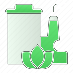 factory, green, green technology, industry, power icon
