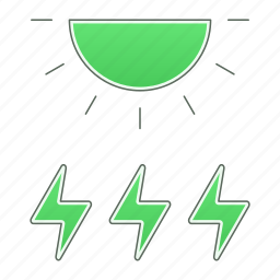 ecology, green technology, power, renewable energy, solar icon