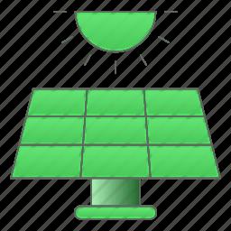 ecology, energy, green technology, panel, power, solar icon
