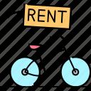rent, service, rental, bicycle, transport