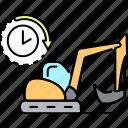 rent, service, rental, excavator, transport