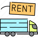 rent, service, transport, truck, car, vehicle