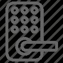 digital, door, gadget, lock, rental, technology