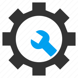 configuration, gear, options, preferences, service tools, settings, work icon
