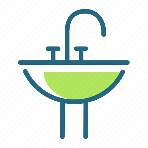 bathroom, sink, tap, water icon