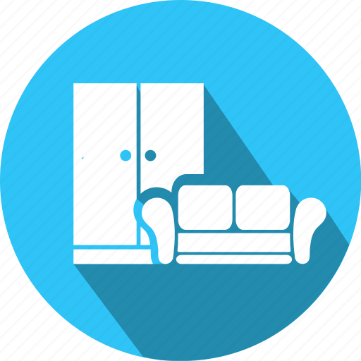 flat, furniture, icon, repairs, sofa icon