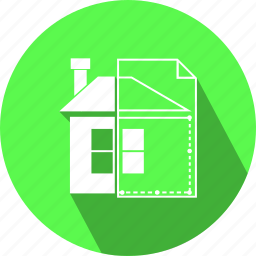 building, flat, home, house, icon, project, repairs icon