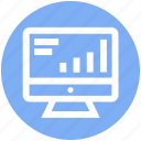 analytics, bars, graph, lcd, reports, stabilization icon