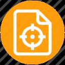 aim, analytics, document, file, page, statistics, target
