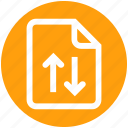 analytics, document, file, page, statistics, up and down arrows