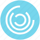abstract, analytics, circles, comparison, stripes icon