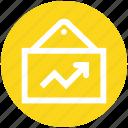 analytics, bars, board, graph, reports, stabilization icon